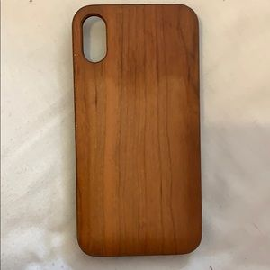 iPhone X case - wooden